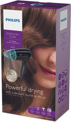 Philips Essential Care BHD007/20 Hair Dryer (Black)