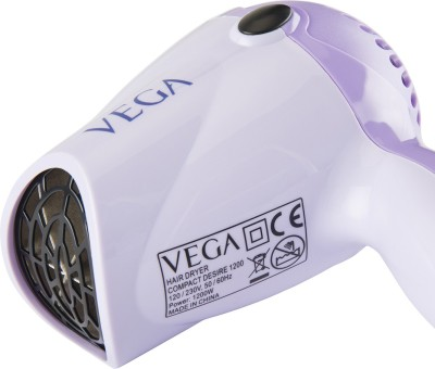 Vega Compact Desire 1200 VHDH-01 Hair Dryer (Purple)