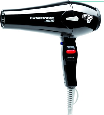 ETI Italy 3800 Professional 2400 Watts AC Motor Turbo Strat Hair Dryer (Black)