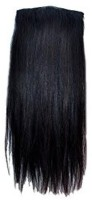 Gimmick Clip On Off Fake  Extension 22'' 100 Gm Black 22 Inch Hair Extension (Royal Black)