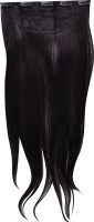Amaze Mobile Clip In Straight For Human  60 Cm Hair Extension (Jet Black)