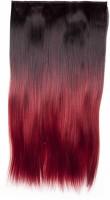Hair Exquisite Ombre Straight 24 Inch Hair Extension (Dark Brown, Burgundy)