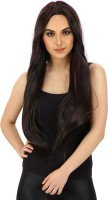 Out Of Box Full Head WIG Double Tone Black Burgundy Helighted Synthetic 26-28 Inch 26 Inch Hair Extension (Black Burgundy)