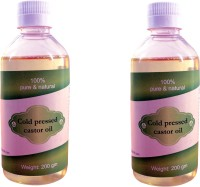 Royal Cold Pressed Castor Oil Pack Of 2 Nos (200ml) Hair Oil (400 Ml)