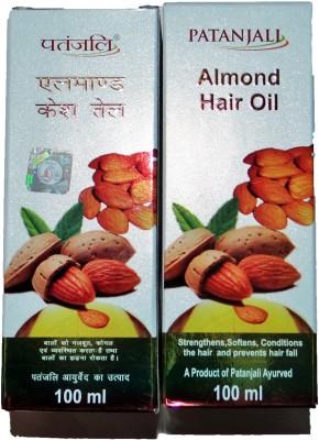 Patanjali Almond Hair Oil 2 Pcs Hair Oil (200 Ml)