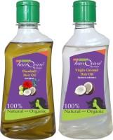 Hairocare Dandruff (200 Ml) + Virgin Coconut (200 Ml) - Tamil Traditional Dandruff Remover - Hair Oil (400 Ml)