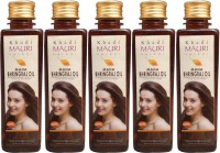 Khadi Mauri Maha Bhringraj Pack Of 5 Herbal Ayurvedic 250 Ml Each Hair Oil (1250 Ml)