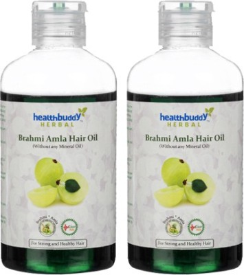 Healthbuddy Herbal Brahmi Amla 2 Packs Of 200 Ml Each Hair Oil (400 Ml)