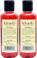 KHADI HERBALS Shikakai [ PACK OF 2] Hair Oil (420 Ml)