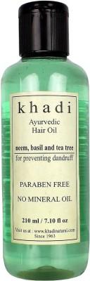Khadi Hair Oils Khadi Anti Dandruff Ayurvedic with Neem, Basil & Tea Tree Hair Oil