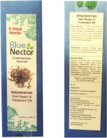 Blue Nectar Briganantadi Herbal For Premature Greying Anti Dandruff Repair Regrowth Ayurvedic Hair Oil (200 Ml)