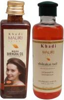 Khadi Mauri Maha Bhringraj 100 Ml & Shikakai 210 M.l. Combo Pack Herbal Ayurvedic Hair Oil (310 Ml)