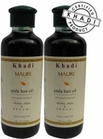 Khadi Mauri Amla Hair Oil - Pack Of 2 - Premium Natural Hair Oil (420 Ml)