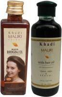 Khadi Mauri Maha Bhringraj 100 Ml & Amla 210 M.l. Combo Pack Herbal Ayurvedic Hair Oil (310 Ml)