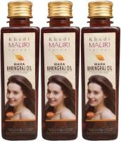 Khadi Mauri Maha Bhringraj Pack Of 3 Herbal Ayurvedic 250 Ml Each Hair Oil (750 Ml)