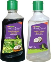 Hairocare Herbal & Virgin Coconut (200 Ml + 200 Ml) - Extract Of 10 - Hair Oil (400 Ml)
