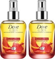 Dove Elixir Nourished Shine Hair Oil - Pack Of 2 Hair Oil