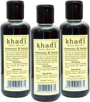 KHADI HERBALS Rosemary Heena [ PACK OF 3] Hair Oil (630 Ml)