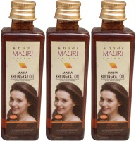 Khadi Mauri Maha Bhringraj Pack Of 3 Herbal Ayurvedic 100 Ml Each Hair Oil (300 Ml)