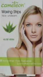 Cameleon Hair Removal Cameleon Waxing Strips face underArm Aloe Vera flavor