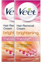 Veet Hair Removal Cream Brightening Normal To Dry - (Pack Of 2) (120 G)