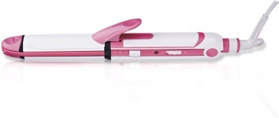 Nova 3 In 1 Beauty Styler NHS 897 Hair Straightener (White)