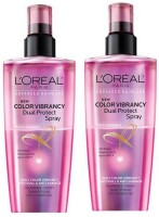 L'Oreal Paris Color Vibrancy Dual Protect Leave-In Spray For Color-Treated (Pack Of 2) Hair Styler