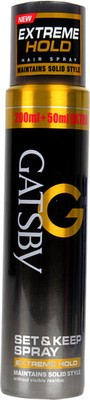 Gatsby Hair Styling Gatsby Extreme Hold Set and Keep Spray Hair Styler