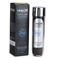 Majik Hair Building Fiber 54 Gm Dark Brown With Bonding Spray, Hair Shiner, Optimizer, 3-D Mirror (54 G)