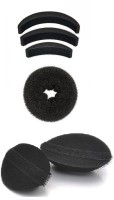 Out Of Box Set Of 3 Hair Puff And Donut Bun Medium Size With Velcro Puffs Oob_1124 Extreme Hair Volumizer Bumpits (6 G)