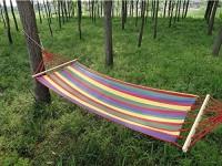 7Trees Single Person Hammock With Spreader Bars, 39 Inch, 1 Piece Cotton Hammock (Multicolor)