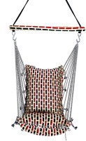 Kkriya Maarketing Swing King Cotton Hammock (Black)
