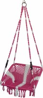 Kaushalendra Swing Cotton, Nylon Hammock (Red, White) - HKSEYJTXGYNBEJAN