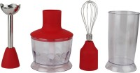 Silvertone Hand_Blender 200 W Hand Blender (Transparent, Red)