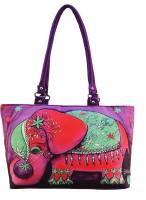 Shilpkart Digital Elephant Print Hand-held Bag - Purple