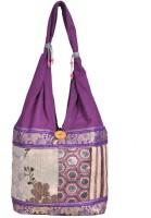 Domestiq Zipper Style Patch Work Jhola Shoulder Bag (Purple)