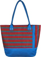 Indian Rain Raye Cotton Tote - Turquoise Blue