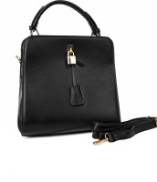 Just Women Faux Leather Hand Bag Messenger Bag (Black)