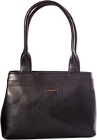 Womaniya Ethnic Silver Rose Collection-199 Hand-Held Bag Black