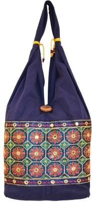 Shilpkart Shilpkart Ethnic Embroidery Jhola Shoulder Bag (Blue)