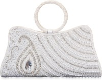 Freddys Pearl And Bead Work Hand-held Bag - Silver