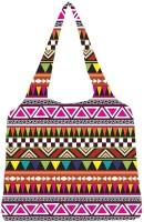 Snoogg Aztec Multicolour Jhola Tote Multicolour