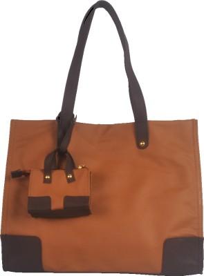 Toteteca Bag Works Large Shopper Tote Shoulder Bag - Dark Tan