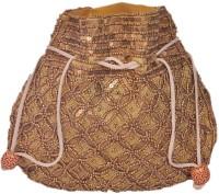 Domestiq Matka Beads Sequins Pouch Potli (Gold)
