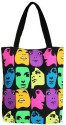 Carry On Bags Neon Faces Tote Bag Tote - Multicolor