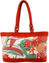 Shilpkart Canvas Print Hand-held Bag - Red