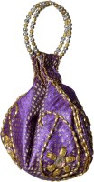 Tripssy Bead Sequins Pouch Potli Purple