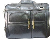 Pranjali Genuine Leather Side Messenger Bag (Black_001)
