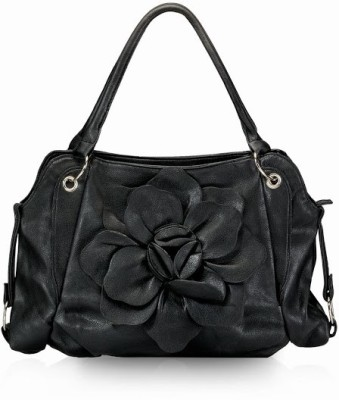Calvino Calvino Beautiful Flower Hand Bag (Black)