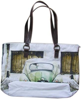 Lotsa Fashion Vintage Car Print Hand-held Bag - Wt-004